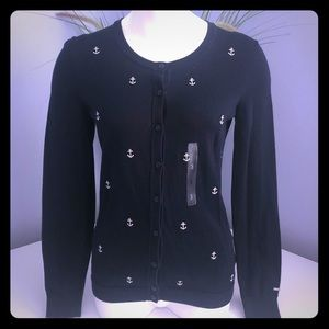 NWT Tommy Hilfiger Navy Blue Nautical Sweater S